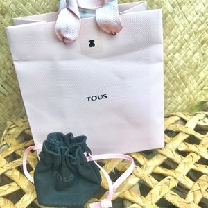 🛍 3x$25 Empty Tous mini shopping bag and pouch